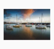 Sunset at Titchfield Harbour, England. UK Kids Clothes