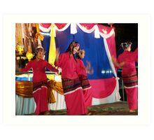 Shan girls dancing - 5 Art Print