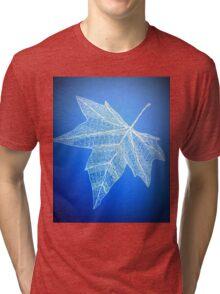 blue leaf art Tri-blend T-Shirt
