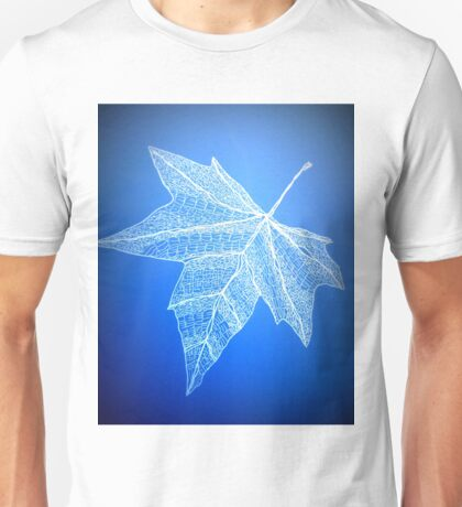 blue leaf art Unisex T-Shirt