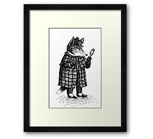 Fox -  Boy Framed Print