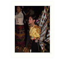 Shan girl in parade Art Print
