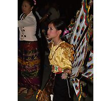 Shan girl in parade Photographic Print