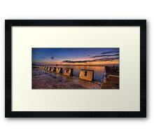 "Merewether Baths, Newcastle - ""Before Sunrise"" Framed Print"