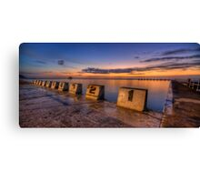 "Merewether Baths, Newcastle - ""Before Sunrise"" Canvas Print"