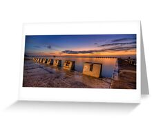 "Merewether Baths, Newcastle - ""Before Sunrise"" Greeting Card"