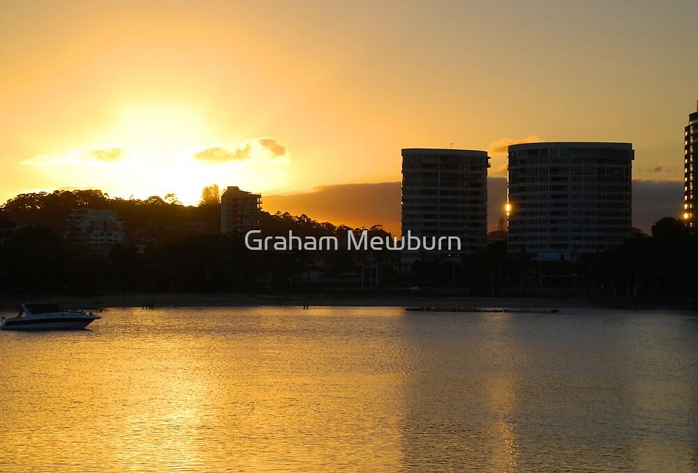 Tweed skyline across Jack Evans Harbour by Graham Mewburn