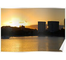Tweed skyline across Jack Evans Harbour Poster