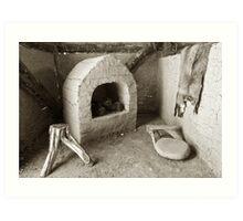 Ancient Hut Interior Art Print