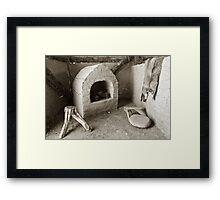 Ancient Hut Interior Framed Print