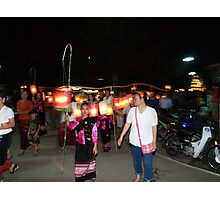 Shan parade at night festival Photographic Print