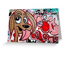 Graffiti dog Greeting Card