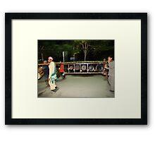 Shan gongs in a frame Framed Print