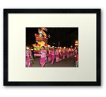 Shan women carrying lanterns  Framed Print