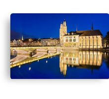 Night in Zurich Canvas Print