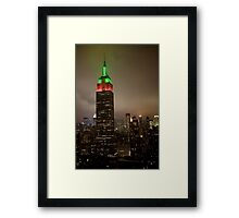 Empire State Building NYE 2009 Framed Print