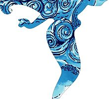 Lilly Pulitzer Inspired Mermaid Dark N Stormy by mlr28blu