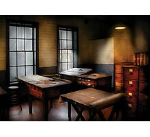 Draftsman - The Drafting room Photographic Print