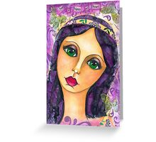 Paisley Princess - Just a hippy at heart Greeting Card