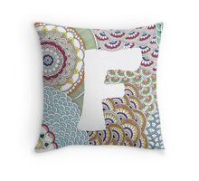 F for Fabulous! Throw Pillow