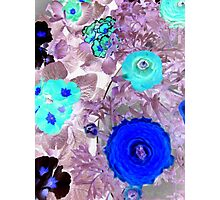 "Abstract Flowers featured in ""The World as we see it or missed it"" & ""A fascinating purple"" Photographic Print"