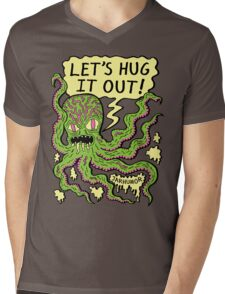 Lets Hug It Out Mens V-Neck T-Shirt