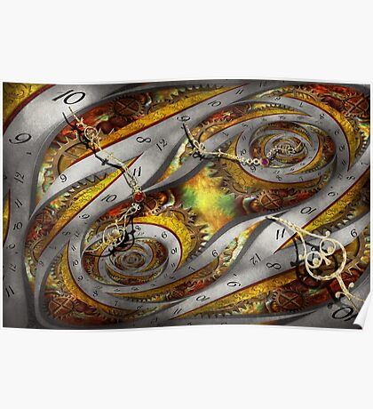 Steampunk - Spiral - Space time continuum Poster