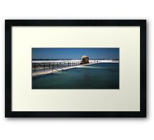 "Merewether Baths, Newcastle - ""Rough Seas"" Framed Print"
