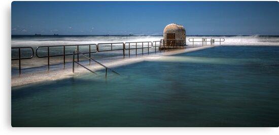 "Merewether Baths, Newcastle - ""Rough Seas"" by Stephen Greaves"