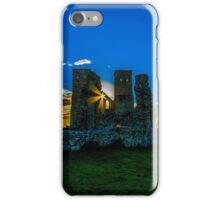 Reculver Castle, Kent, UK at sunset iPhone Case/Skin