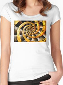 Steampunk - Clock - The flow of time Women's Fitted Scoop T-Shirt