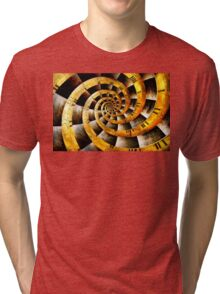 Steampunk - Clock - The flow of time Tri-blend T-Shirt