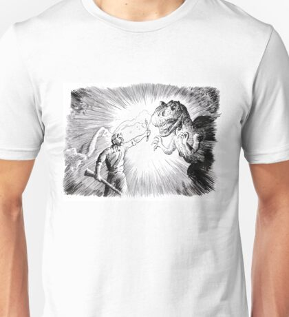 The Lost World, an Allosaurus comes close to camp. Unisex T-Shirt