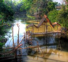 Fish-trap and water-wheels by fabianfred