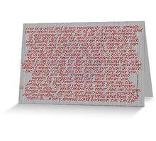 Love Is A Word (four) © Vicki Ferrari Cards Greeting Card
