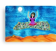 Missy's Magical Flying carpet Canvas Print