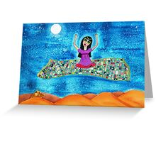 Missy's Magical Flying carpet Greeting Card