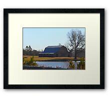 Barn On The Farm North Carolina Framed Print