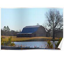 Barn On The Farm North Carolina Poster