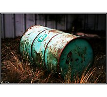 Discarded Old Drum Photographic Print