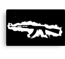 AK-47 Graffiti Canvas Print