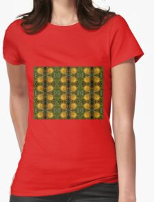 Leucospermum conocarpodendron motif Womens Fitted T-Shirt