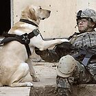Soldier with dog by Chad Chastain