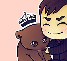Crowley Adopts A Wombat by bonejangless
