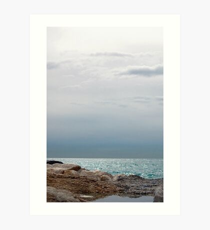 Silver sea, Finestrat Art Print