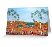 """""""Aussie Cricket Outback Style""""  SOLD Greeting Card"""