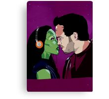 Gamora and Star Lord Canvas Print