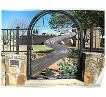Gate of Historical Park in Palo Pinto, Texas Poster