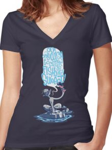 Rockses and Poolses Women's Fitted V-Neck T-Shirt