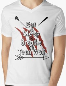 Eat Sleep Breathe Teen Wolf Mens V-Neck T-Shirt